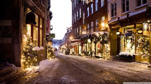 christmas town hd desktop wallpaper widescreen high definition