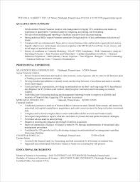 Examples Of Summary Of Qualifications On Resume by Financial Analyst Job Resume Sample Fastweb