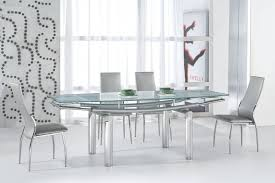 Modern Dining Furniture Sets by Extendable Glass Top Leather Dinner Furniture Set Modern Glass