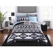 Bed In A Bag Set Mainstays Tribal Black And White Bed In A Bag Bedding Set