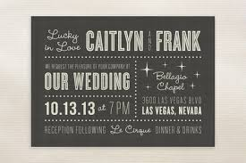 vegas wedding invitations vegas style wedding invitations lucky in