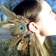 how to make feather ear cuffs best american indian feather earrings products on wanelo