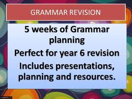 year 6 grammar booster plans by raphella teaching resources tes