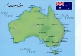Austrailia Map Australia Postcard Interactive