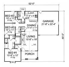 656022 craftsman 3 bedroom 2 bath with split floor plan and