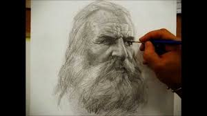 drawing a portrait with pencil by salim rakkah youtube