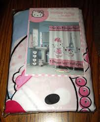 Paris Bathroom Set by Hello Kitty Bonjour Paris Fabric Shower Curtain Pink White