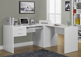 L Shaped White Desk Computer Desk White L Shaped Corner Desk Monarch Specialty I