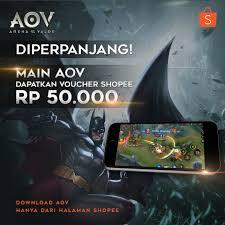 aov shopee indonesia on twitter