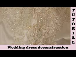 repurpose wedding dress 1 wedding dress deconstruction skirt diy how to dismantle to