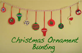 zaaberry christmas ornament bunting tutorial
