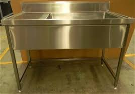 Free Standing Stainless Steel Large Kitchen Sink With Prep Bench - Stainless steel kitchen sinks australia