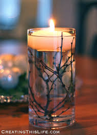 Vase With Twigs Winter Centerpiece With Twigs And Floating Candles Creating This