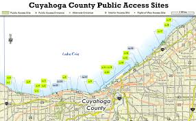 Map Of Sandusky Ohio by Ohio Dnr Lake Erie Access Guide Cuyahoga County