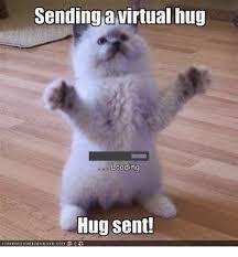 Give Me A Hug Meme - sending virtual hug loading hug sent canhascheezeurgercom meme