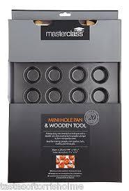 mini canapé master class non stick 24 mini canape baking tray wood pastry