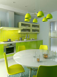 furniture fancy kitchen design idea with kiwi cabinet white green