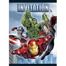 party supplies boys birthday avengers invitations and stationary
