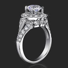 halo engagement ring settings antique bezel engagement ring with vintage deco styling and