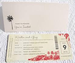 starfish wedding invitations palm trees seashells starfish vintage airline ticket