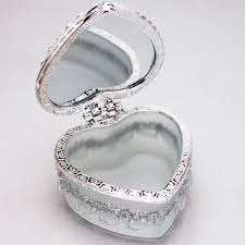 heart shaped box white jewelry box heart theme wedding favors