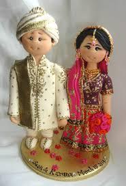personalised indian asian ethnic wedding cake by alittlerelic