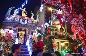 christmas lights seen in brooklyn xinhua english news cn