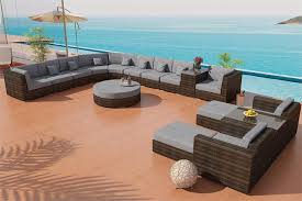 Commercial Grade Outdoor Furniture Madison Outdoor Wicker Patio Furniture Round Sectional Sofa La Jolla