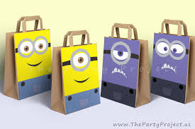 diy printable minions party bags decoration boy and