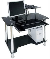 Metal And Glass Computer Desks Office Glass Office Desk Ideas Using Rectangular Black Glass
