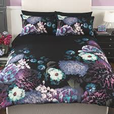 Asda Single Duvet George Home Moody Bloom Dark Floral Duvet Set Duvet Covers