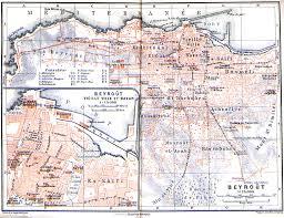 Lebanon Hills Map Historical Maps Of The Arab World Al Bab Com