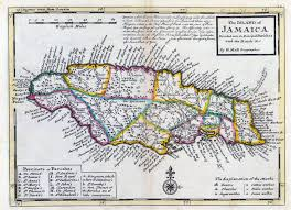 Jamaica Map Jamaica Colony