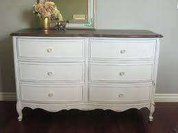 bedroom white stained wooden six drawer dresser cabinet with