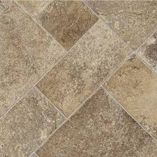 Kitchen Sheet Vinyl Flooring by Trafficmaster Sandstone Mosaic 12 Ft Wide Vinyl Sheet U4290