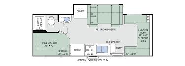 floor plans chateau sprinter 24ws chateau rv floor plans crtable
