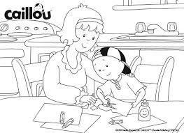 caillou pictures balloon coloring pages coloring