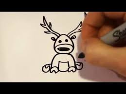 draw cartoon reindeer drawing videos