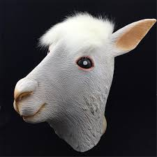aliexpress com buy halloween costume alpaca latex animal head