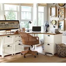 Pottery Barn White Desk With Hutch Pottery Barn Whitney Corner Desk Set Almond White Polyvore