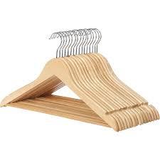 wood suit hangers set of 16 walmart