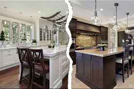 Dark Kitchen Cabinets With Light Granite Brilliant White Kitchen Vs Darkmaxine Schnitzer Photography