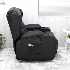 White Leather Recliner Chair Caesar 10 In 1 Winged Leather Recliner Chair Rocking Massage