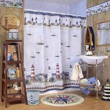 lighthouse bathroom shower curtains bath showers curtain with valances