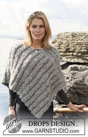 drops design poncho drops 110 15 free knitting patterns by drops design