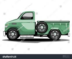 old jeep truck vector illustration green transportation classic truck stock