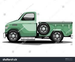 Vector Illustration Green Transportation Classic Truck Stock
