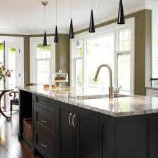 home paint colors kitchen transitional with crown molding black