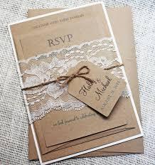rustic wedding invitation kits rustic wedding invitation kit eco kraft and rustic lace wedding