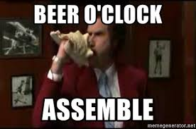 Beer O Clock Meme - beer o clock assemble anchorman conch meme generator